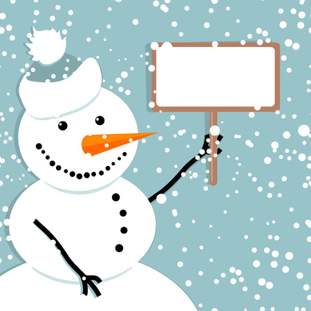 Happy snowman, christmas card Stock Vector - 6007382