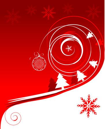 Winter holiday, christmas card Stock Vector - 6007396