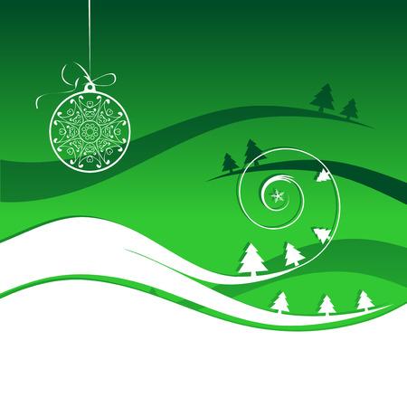 Winter holiday, christmas card Vector