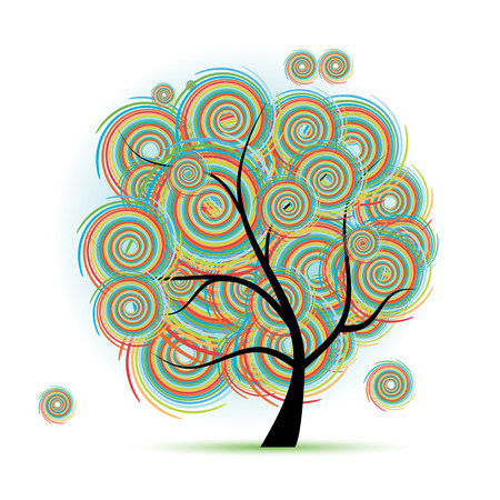 Art tree fantasy Stock Vector - 6040055
