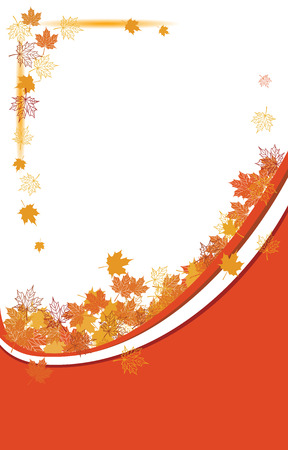 Autumn background, maple leafs Stock Vector - 6040065