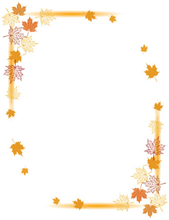 Autumn background, maple leafs  Stock Vector - 6040053