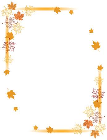 Autumn background, maple leafs     Vector