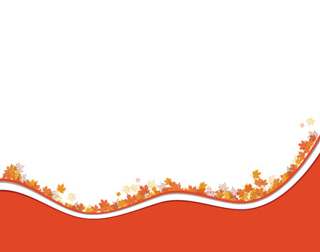Autumn background, maple leafs  Stock Vector - 6040072