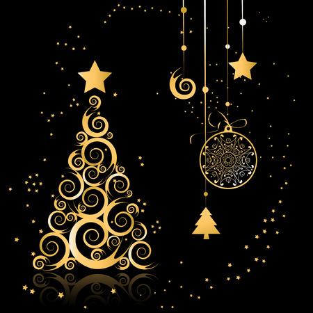Christmas tree beautiful Vector
