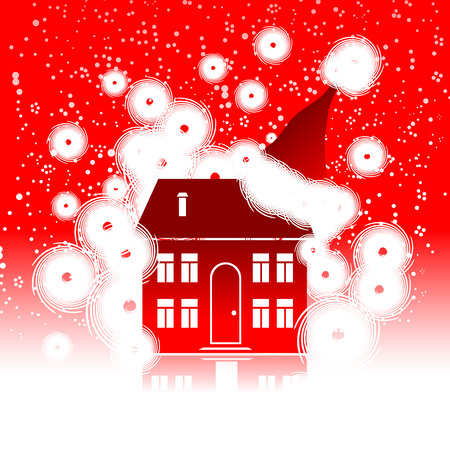 Christmas holiday, winter house Vector