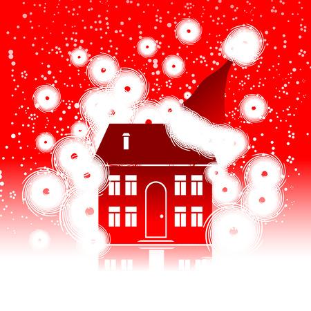 Christmas holiday, winter house Stock Vector - 6052154