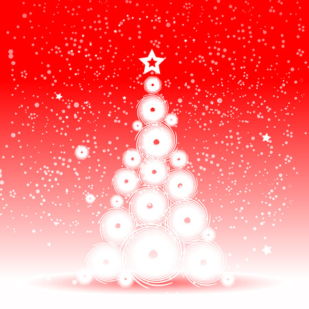 Christmas tree beautiful Vector