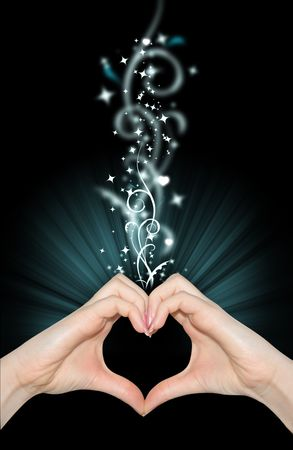 Love magic, hands of heart shape Stock Photo - 6331601