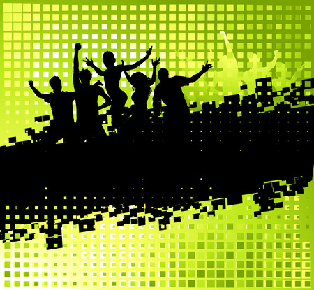 youth background: Funny party background with place for your text Illustration