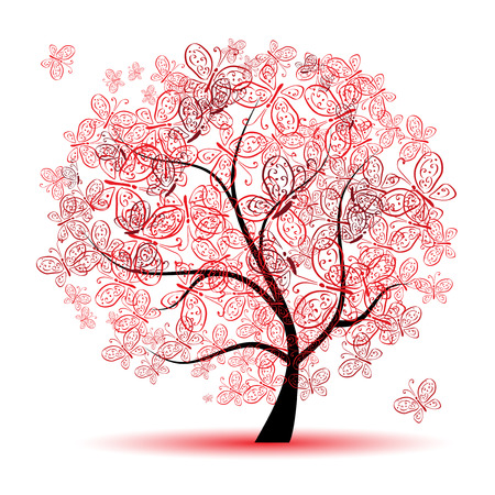 Floral tree beautiful Stock Vector - 6416431