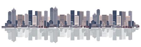 rises: Cityscape background, urban art