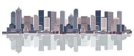 Fondo de paisaje, arte urbano Ilustración de vector
