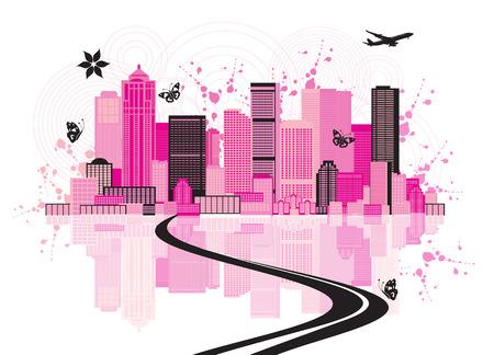 DOWN TOWN: Cityscape background, urban art