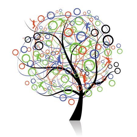 Conexión de los pueblos, árbol web