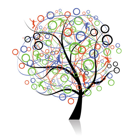 Connecting peoples, web tree Vector