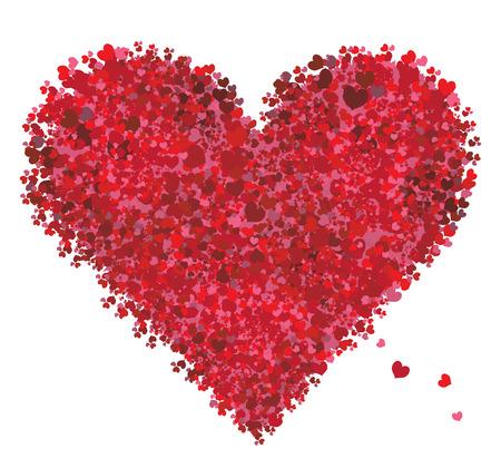 Valentine heart shape, love Vector