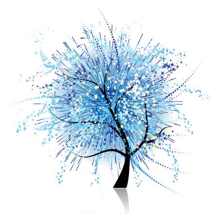 Art tree fantasy Vector