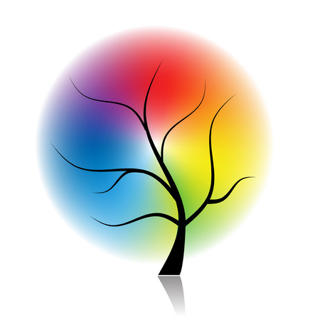 Art tree of spectral colors for your design Vector