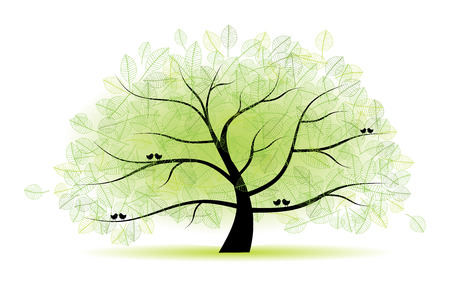 Great old tree for your design Vector