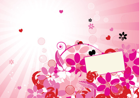 Pink floral background for your design Stock Vector - 6429897