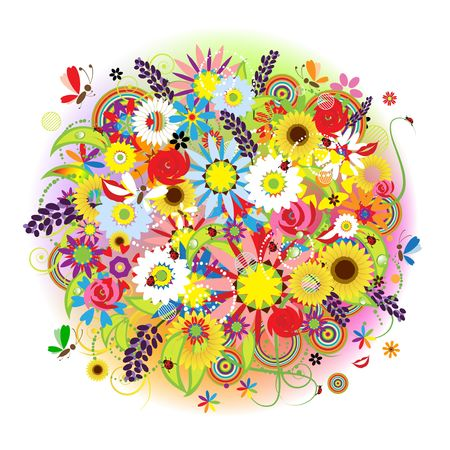 Floral bouquet beautiful for your design Vector