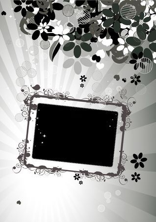 Floral frame with place for your text and photo Stock Vector - 6622637