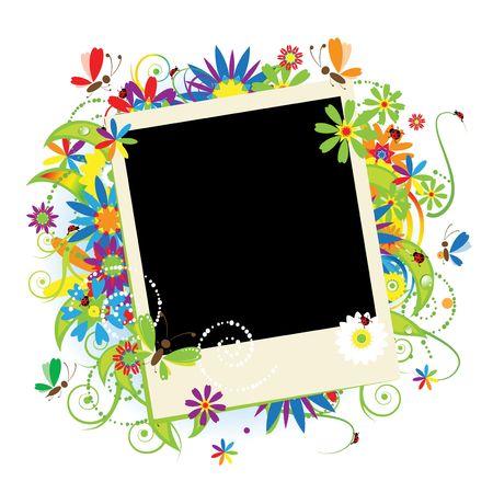 insertar: Vacaciones de verano, inserte su foto en marco