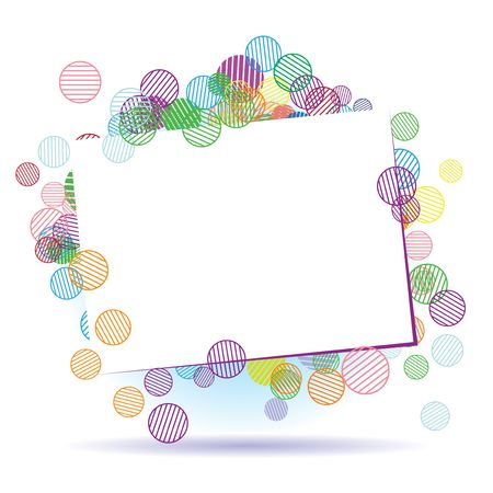 Holiday frame beautiful with place for your text Vector Illustration