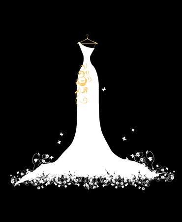 cüppe: Wedding dress white on hangers