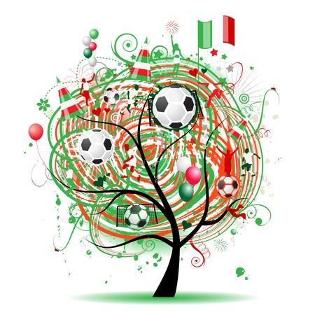 mexican flag: Progettazione della struttura di calcio, bandiera messicana  Vettoriali