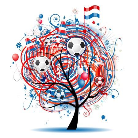Football tree design Vector