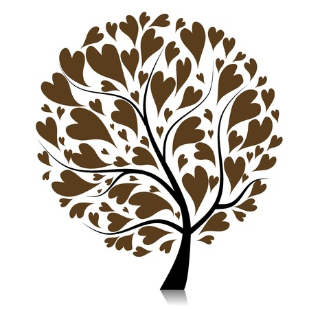 love tree: Art tree beautiful for your design  Illustration