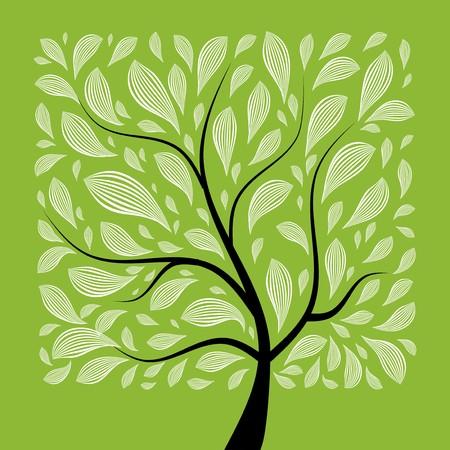 feuille arbre: Art arbre magnifique pour votre conception
