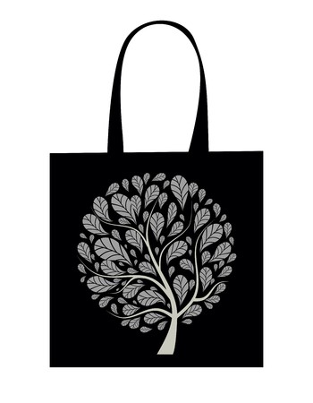 Shopping bag design, art tree Stock Vector - 7509257