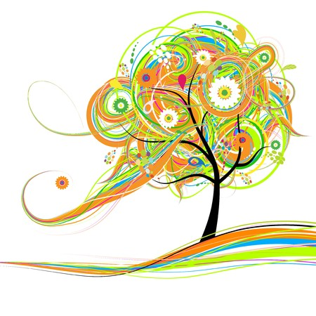 Art tree beautiful for your design Stock Vector - 7509346