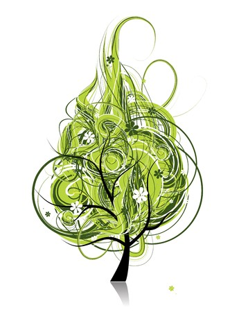 Art tree fantasy for your design Vector