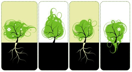 Banners for you design, art trees Vector