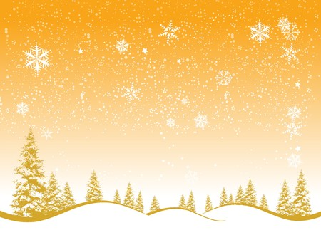 Winter forest, christmas background for your design Vector