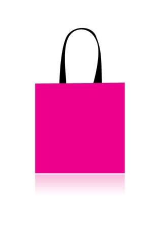 white paper bag: Shopping bag isolated for your design Illustration