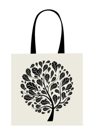 Shopping bag design, art tree Stock Vector - 7770123