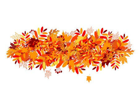 autumn leaf frame: Autumn leaves background for your design