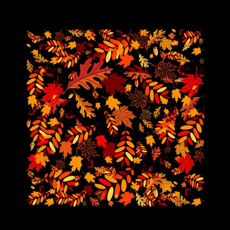 Autumn leaves background for your design Stock Vector - 7770174