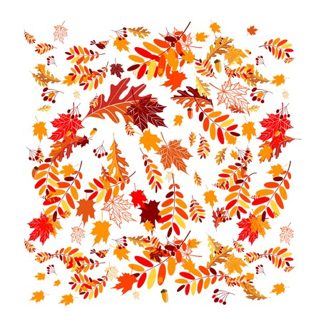 Autumn leaves background for your design Vector