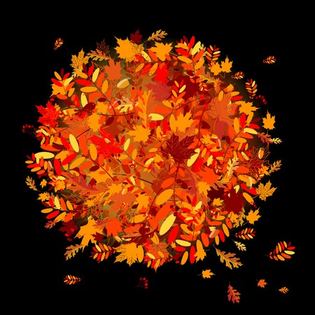 Autumn leaves background for your design Stock Vector - 7770211