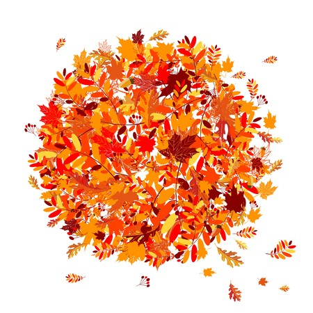 rowan: Autumn leaves background for your design