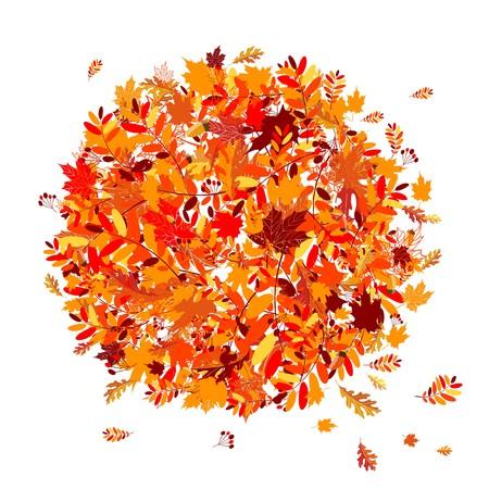 eberesche: Herbst Laub Hintergrund f�r Ihr design  Illustration