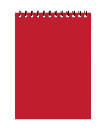 Notebook red cover for your design Stock Vector - 7770120
