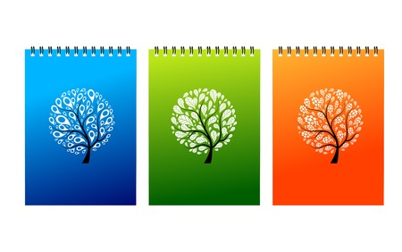 Notebook covers design, art tree Stock Vector - 7770155