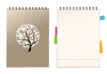 notebook cover: Notebook cover and page for your design